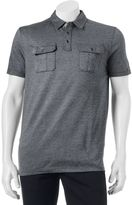 Apt. 9 Men's Modern-Fit Textured Military Polo