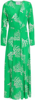Leone We Are Printed Silk Crepe De Chine Robe