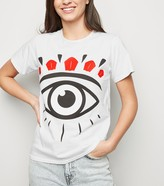 New Look Carpe Diem Eye Print T-Shirt