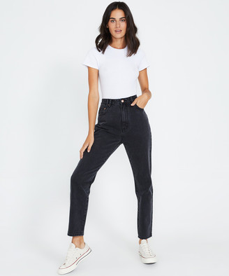 Insight Callee Classic Mom Jeans After Dark Black