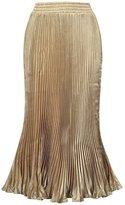 SK Studio Women's Summer Metal Shine Bouffant Long Skirt