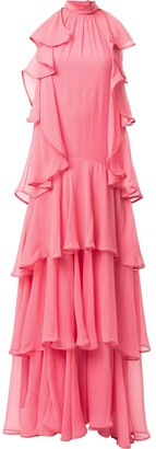 Alberta Ferretti Tiered Maxi Dress