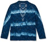 Thumbnail for your product : Blue Blue Japan Indigo-Dyed Cotton-Mesh Jacket