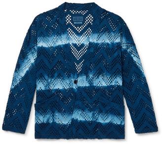 Blue Blue Japan Indigo-Dyed Cotton-Mesh Jacket