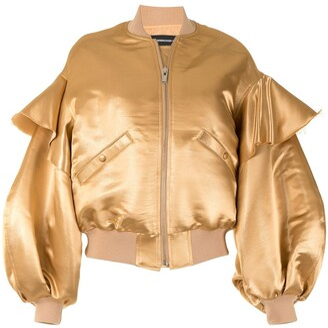 Undercover Ruffled Sleeves Bomber Jacket