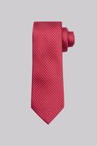 Moss Esq. Red & Blue Circle Silk Tie