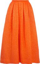 Rochas Pleated cloqué midi skirt