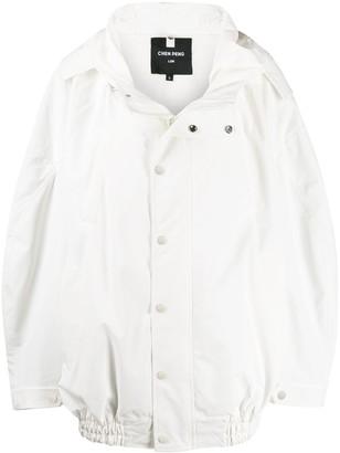 CHEN PENG oversized hooded jacket