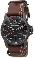 Tommy Bahama Men&s Paradise Pilot Leather Strap Watch