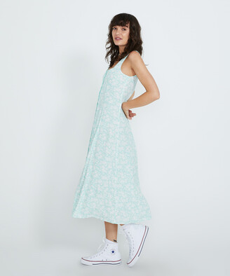 ROLLA'S Claire Blossom Midi Dress Fresh Mint