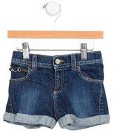 Gucci Girls' Cuffed Denim Shorts