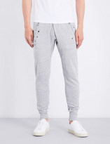 True Religion Studded distressed cotton-jersey jogging bottoms