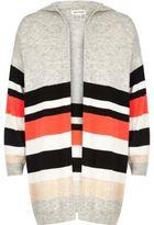 River Island Girls grey stripe oversized cardigan