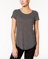 Alfani Plaid T-Shirt, Only at Macy's