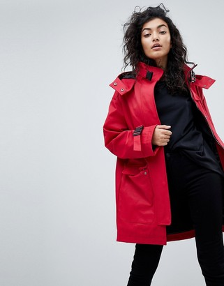Asos Design ASOS Parka with Funnel Neck and Buckles