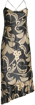 Mestiza New York Clara Backless Printed Midi Dress