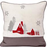 Christmas Shop Décor-43cm Cushion House & Trees Multi