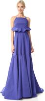 Lela Rose Flounce Back Gown