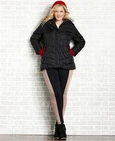 Dollhouse Plus Size Coat, Faux Fur Hood Puffer