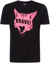 Diesel Brave Cat Print Tshirt