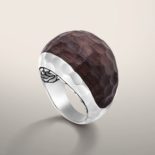 John Hardy PALU COLLECTION Small Dome Ring with Rose Wood