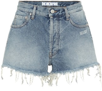 Off-White High-rise denim shorts