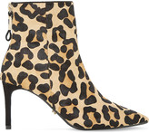 Dune Oralia leopard print pony ankle boots