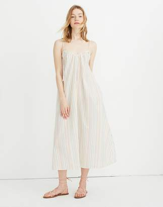 Madewell Tie-Strap Cover-Up Maxi Dress in Rainbow Stripe