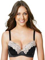 Perfects Australia Bra: Eliza Curve It Up Satin Lace Balconette T-Shirt Bra 14UBR97 - Women's