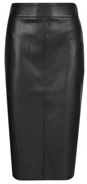 Dorothy Perkins Womens Black Pu Midi Skirt, Black
