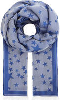 Stella McCartney Star shine silk-blend scarf