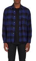 Saint Laurent Men's Checked Cotton Flannel Shirt