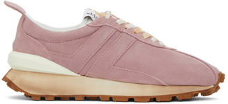 Lanvin Pink Suede Bumper Sneakers