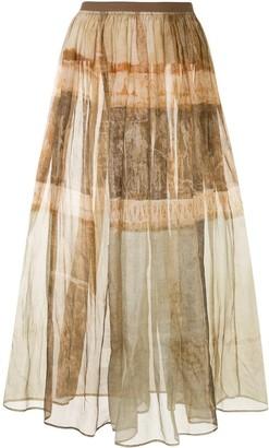 UMA WANG Rustic Print Maxi Skirt