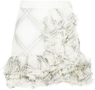 Giambattista Valli Flamenco-Style Short Ruffle Skirt