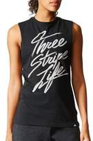 adidas Graphic-Front Jersey Tank Top