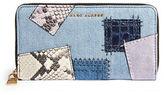 Marc Jacobs Denim Patchwork Standard Continental Wallet