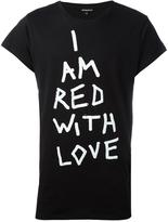 Ann Demeulemeester Red with love T-shirt - men - Cotton - S