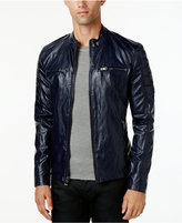 GUESS Men's Textured Faux-Leather Jacket