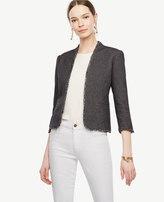 Ann Taylor Grid Stitch Bolero Jacket