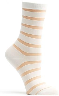 Ozone Women's Japanese Sheer Stripe Crew Sock