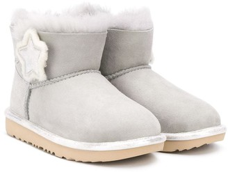 Ugg Kids Star Patch Ankle Boots