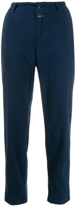 Closed Cropped Straight-Leg Trousers