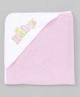 SpaSilk Pink 'Baby' Hooded Towel