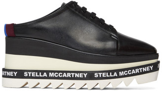 Stella McCartney Black Sneak-Elyse Slip-On Oxfords