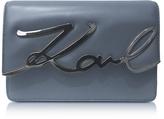 Karl Lagerfeld Thunder Leather K/Signature Shoulder Bag