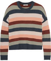 Madewell James Striped Knitted Sweater - Blue
