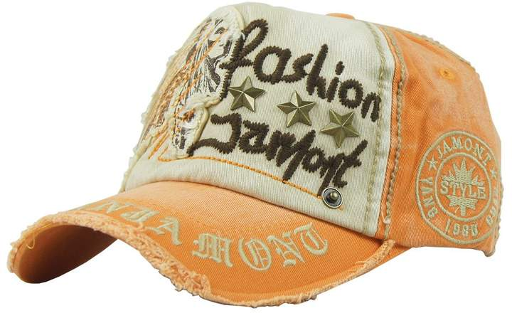 YANG GUAN Cotton Distressed Vintage Embroidered Adjustable Baseball Cap