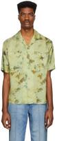 Andersson Bell Green Open Collar Shirt