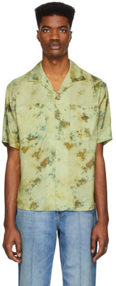 ANDERSSON BELL Green Open Collar Shirt